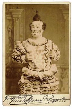A familiar face! the clown Harry Payne and friend of Sambourne (18ST Image library 'Music Hall') #Victorian #London