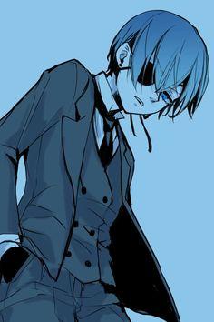 Black Butler Ciel, Black Butler Kuroshitsuji, Black Butler Characters, Anime Characters, Anime Art, Manga Anime, Sebastian X Ciel, Genesis Evangelion, Sebaciel