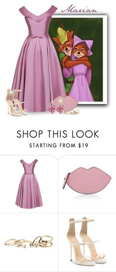 """""""Maid Marian-Robin Hood"""" by majezy ❤ liked on Polyvore featuring Kendall + Kylie, GUESS, Giuseppe Zanotti and Rina Limor"""