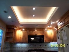 Idea for replacing the lovely fluorescent lighting in the