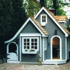 English Cottage Playhouse - More info here www. - English Cottage Playhouse – More info here www. Small Cottage Designs, Small Cottage House Plans, Small Cottage Homes, Small House Plans, Small Cottages, Small English Cottage, Tiny Home Floor Plans, Micro House Plans, English Cottages