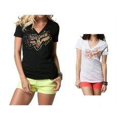 2013 Fox Racing Excite V Neck Casual Motocross Apparel Short Sleeve T-Shirt Tee