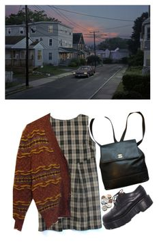 """""""87. go home, dweeb"""" by poolboy ❤ liked on Polyvore featuring Dr. Martens and Chanel"""