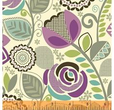 Fabric Fixation - Chelsea - Large Flower on Cream