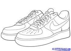 Here you find the best free Nike Air Force 1 Clipart collection. You can use these free Nike Air Force 1 Clipart for your websites, documents or presentations. Shoe Sketches, Art Drawings Sketches, Easy Drawings, Tattoo Sketches, Air Force One Shoes, Nike Air Force Ones, Hippe Tattoos, Shoes Clipart, Sneakers Sketch