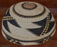 Native American Hat Yurok KARUK Large Hat Quilled Design Circa 1900 20'S | eBay