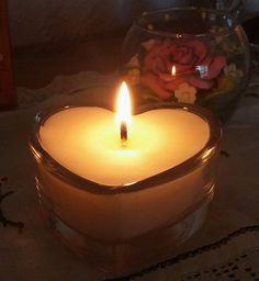 Soy Candle in Heart Glass. Heart Tea-Light holder. Home decor. Room Fragrance. Re-usable Candle holder. Many fragrances. UK Seller by RainflowerKent on Etsy
