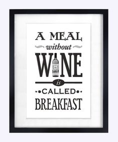 Kitchen Print  Wine Quote Poster by oflifeandlemons on Etsy, $18.50