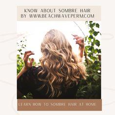 Balayage Highlights, Balayage Hair, Haircolor, Beach Wave Perm, Beach Waves, Permed Hairstyles, Diy Hairstyles, Brown Sombre, Sombre Hair Color