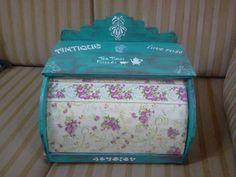 Panera reciclada verdeagua Bread Boxes, Vintage Wood, Chalk Paint, Decorative Boxes, Shabby Chic, Painting, Home Decor, Craft, Home