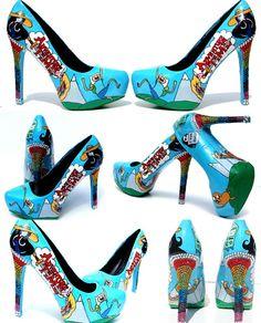 Adventure Time heels.  So cute