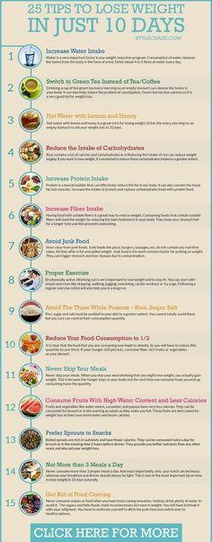 Best ways to lose weight in a week // skinnymetea.com.au