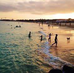 Swimming by the sunset, Sal #CaboVerde #Kaapverdie