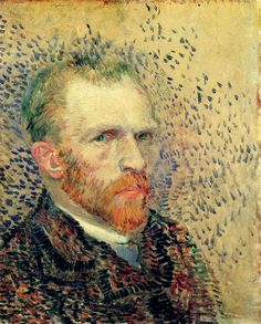 "Self-portrait - Van Gogh   last words: ""The sadness will last forever."" (La tristesse durera toujours.)"