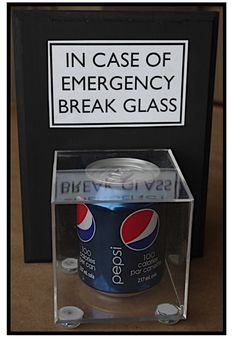 "Creative ""Try""als: Break Glass In Case of Emergency - Gift Idea....perfect gift for my mom!!"