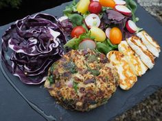 Spicy Bean Burgers with Halloumi | Lucy Bee Coconut Oil