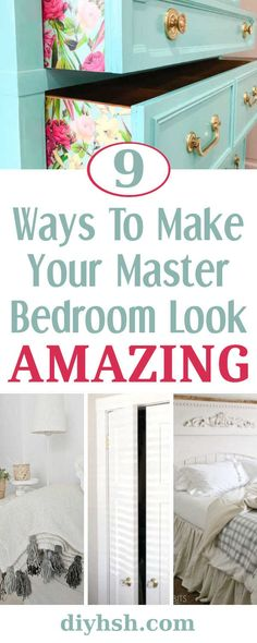 9 Ways To Make Your Master Bedroom Look Amazing | DIY Home Sweet Home