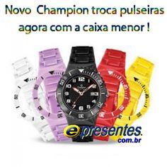 CP38086X Relógio CHAMPION KIT Troca Pulseiras, Tamanho Pequeno