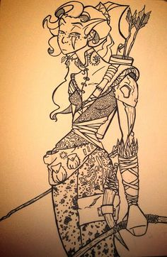 Annette character design. By lauren jansons