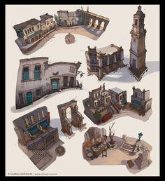 ArtStation - Bizzarra- Building Designs, Gabriel Gonzalez