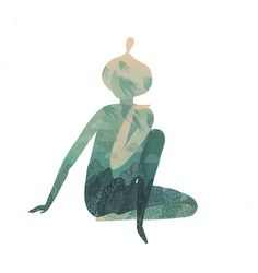 After long long hours of sitting at my desk or computer my body has grown increasingly dissatisfied with this routine of mine…so yoga has been happening in my life to amend the situation!Here is a little gouache painting inspired by this new part of my day!