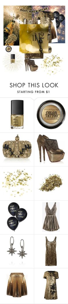 """""""Untitled #57"""" by mademoisellegabriellecoco ❤ liked on Polyvore featuring NARS Cosmetics, Maybelline, Alexander McQueen, Christian Louboutin, Armani Exchange, Yves Saint Laurent, IaM by Ileana Makri and DKNY"""