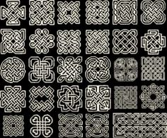 many Celtic knots are elaborate variations using the ancient swastika as the building block - they symbolize immortality and infinity - goodness and life Celtic Knot Meanings, Celtic Symbols, Celtic Art, Irish Celtic, Celtic Knots, Celtic Patterns, Celtic Designs, Celtic Cross Stitch, Knot Tattoo