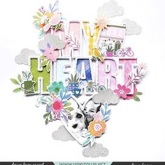 has used a cut file to create a bold title using our February kits Scrapbooking Layouts, Scrapbook Pages, Digital Scrapbooking, Hip Kit Club, Photo Layouts, Scrapbooks, Cutting Files, Bloom, Paper Crafts