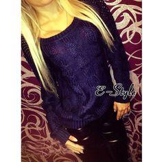Fashion Bow Tie Pullover Round Neck Women Girls Hollow Knit Jumper Top Sweater