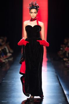 Jean Paul Gaultier Fall/Winter 2013 Couture Collection; modeled by Imaan Hammam, nice [July 3, 2013 / Paris]