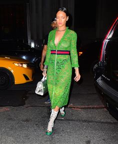 Rihanna Exposes Her Nipples in a See-Through Dress While Out in NYC: See the Daring Look!