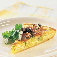 Brokkolipai - En kraftig pai gjør seg med litt grønt, her i form av brokkoli. Frisk, Bacon, Pai, Pork Belly