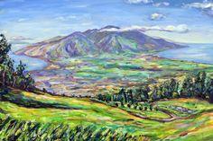 View from Kula, Maui - Artist Maggie T. Sutrov