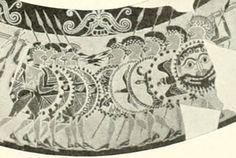 Detall de la decoració dell'Olpe Chigi