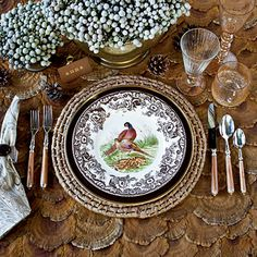 Updated table setting with Woodland Pheasant by Spode