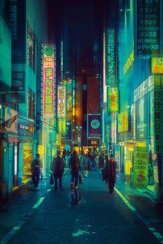 """Tokyo Dream Distance"": Photographer Davide Sasso Captures Surreal Photos Of Tokyo In Dark Neon Night Aesthetic, City Aesthetic, Cyberpunk Aesthetic, Magical Photography, Funny Photography, Blade Runner, Akira, Tokyo Night, Urban Poetry"