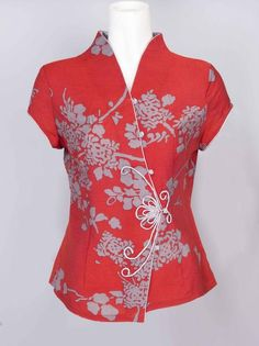 Mandarin collars can be found on blouses, jackets or shirts. Description from hubpages.com. I searched for this on bing.com/images