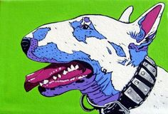 Bull terrier Print -- By Donna Passarelli #etsy #art