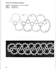 Tatting pattern diagram.