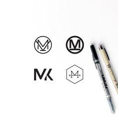 Monogram logo concepts. Designs for @mariakillam by Rosa Pearson Design.
