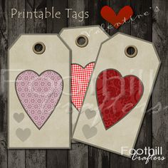 INSTANT DOWNLOAD   12 Vintage Style by FoothillCrafters on Etsy, $3.29 #printabletags #heart_tags #valentinestags #gift_tags #foothillcrafters #etsyshop #productlabels #luggagetags #diyhangtags #hearts #valentinesday #valentinescrafts #vintagehearts #vintage_tags