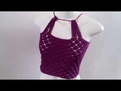 Blusinha de Crochê em Ponto Aranha - Muito Fácil - ! Novelo - YouTube