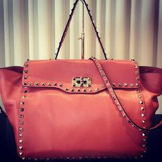 colour is on trend and the studs are coming back..    #Valentino