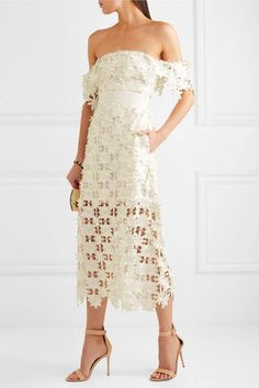 White guipure lace Zip fastening along back 100% polyester; trim: 100% viscose; lining: 88% polyester, 12% elastane Dry clean