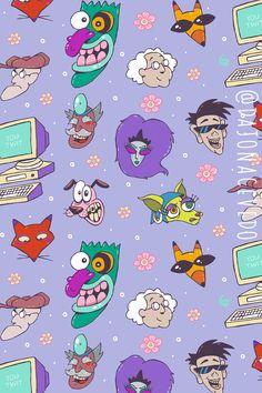 Disney Phone Wallpaper, Cartoon Wallpaper Iphone, Dog Wallpaper, Cute Cartoon Wallpapers, Courage The Cowardly Dog, Old Cartoon Network, Simple Cartoon, Old Cartoons, Wall Collage