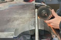 How to Make a Powerful Metal Bender : 5 Steps (with Pictures) - Instructables Metal Bending Tools, Metal Working Tools, Metal Tools, Sheet Metal Roller, Metal Fabrication Tools, Welded Furniture, Metal Bender, Metal Fire Pit, Metal Forming
