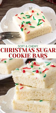 Sugar Cookie Bars, Soft Sugar Cookies, Sugar Cookies Recipe, Cookie Recipes, Dessert Recipes, Frosting For Sugar Cookies, Keto Recipes, Christmas Sugar Cookies, Christmas Snacks