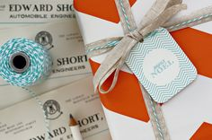 bespoke letterpress boutique - christmas - gift wrapping ideas - christmas gift tags