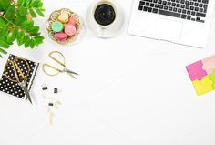 Flat lay Office desk workplace JPG by LiliGraphie on @creativemarket