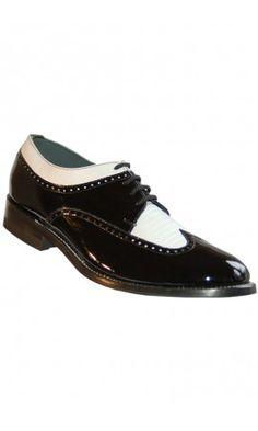 Spectator Black & White Stacy Baldwin Tuxedo Shoes